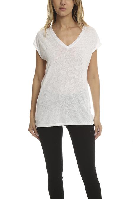 IRO Simza V Neck T-Shirt - Ecru