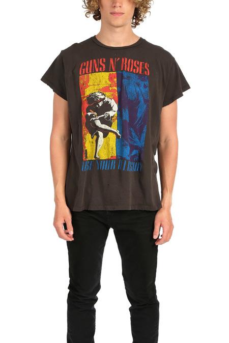 MadeWorn Rock Guns N' Roses Use Your Illusion Graphic T-Shirt - Dirty Black
