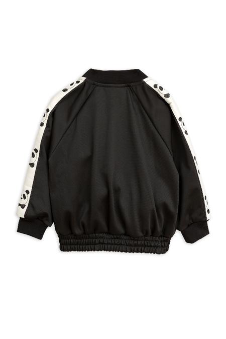 Kids Mini Rodini Panda Track Jacket - Black