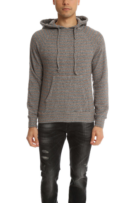 V::Room Pullover Hoodie Sweater - Charcoal/Brown
