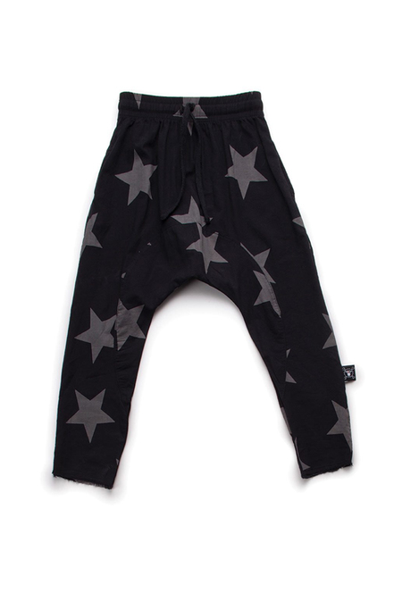 kids Nununu Star Beach Pants - black
