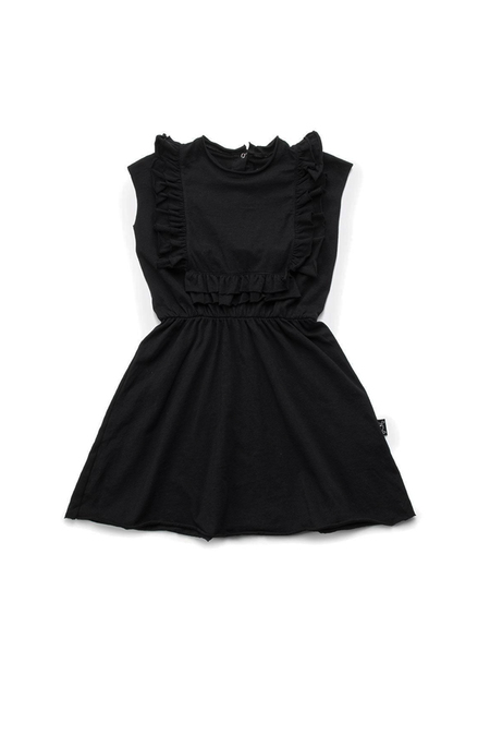 Kids Nununu Apron Dress - Black