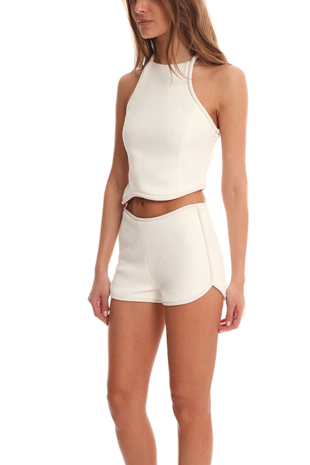 3.1 Phillip Lim Silk Cord Crop Top - White