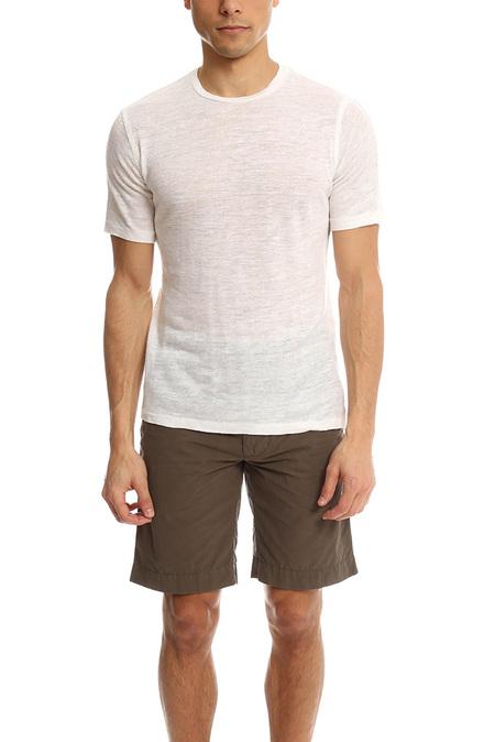 V::Room Basic Short Sleeve Crew Top - White