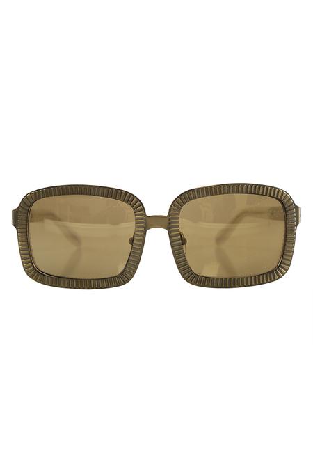 Alexander Wang C1 Rectangle Sunglasses - Antique Brass