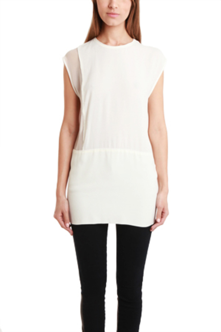 IRO Jacel Silk Tunic Top - Off White
