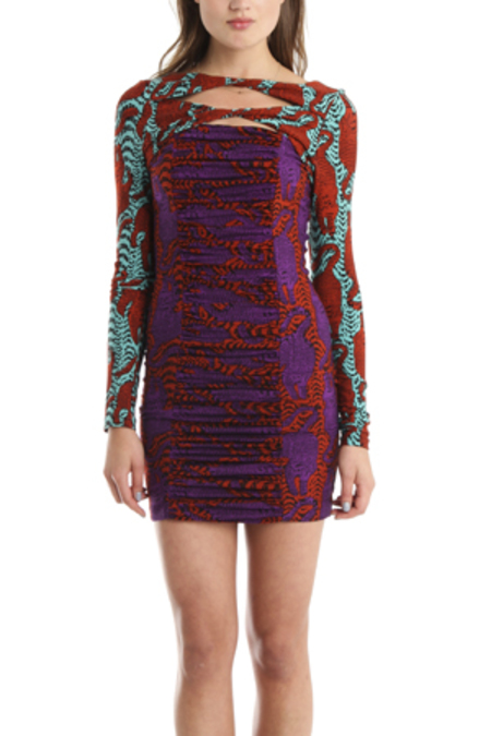 Kelly Wearstler Pounce Crouching Jersey Dress - Tiger Print
