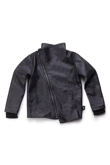 Kids Nununu Leather Jacket - Black