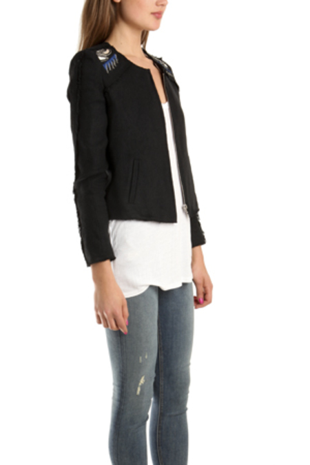 IRO Vicente Embroidered Jacket - Black