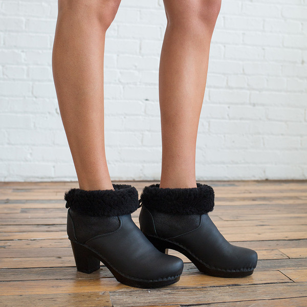 "No. 6 5"" Pull on Shearling Boot High Heel"