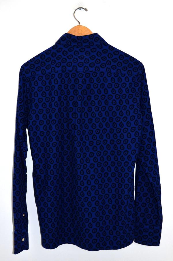 Men's Maison Kitsune Flying Spark Shirt Blue