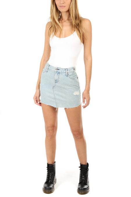 RtA Simone Double Front Skirt - Grail Blue