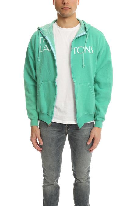 Blue&Cream Lamptons Hoodie Sweater - Green/white