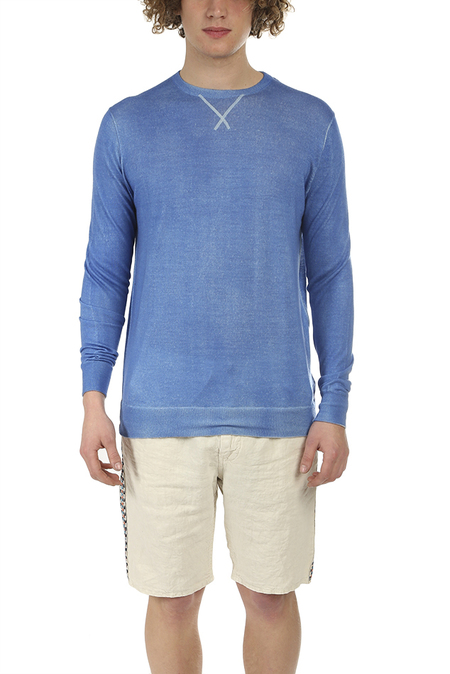 PRESIDENTS Wool Cashmere Sweater - Sky Blue