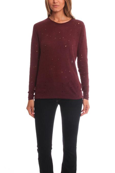 IRO Marvina T-Shirt - Burgundy