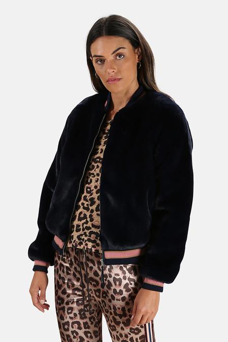 Mother Denim The Letterman Faux Fur Jacket - A Girl Named Blue