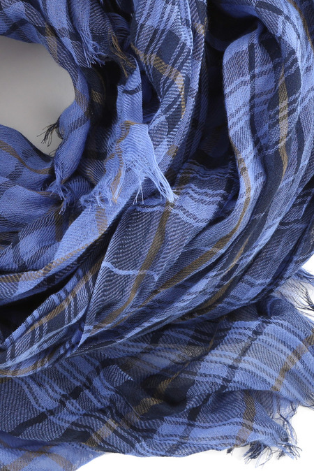 Lanvin Plaid Scarf - Blue