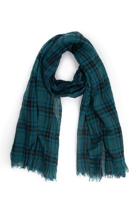 Lanvin Plaid Scarf - Green