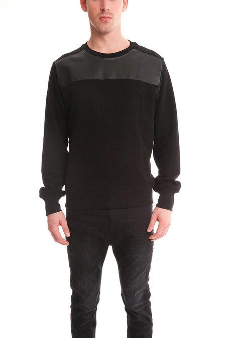 ATM Printed Brushed Sweater - Black