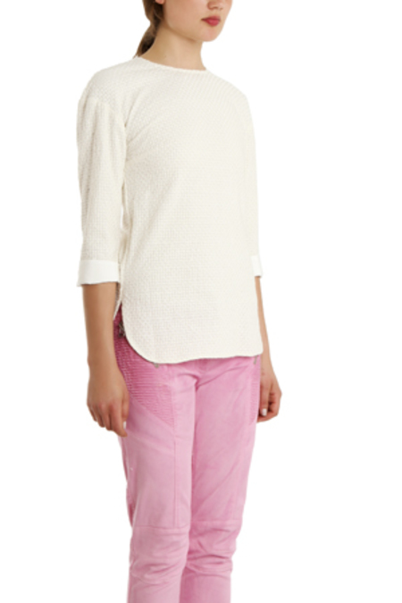 Pierre Balmain Woven Tunic Top - White