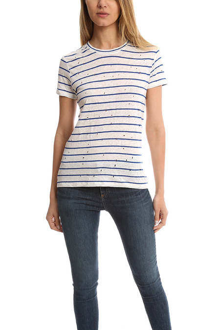 IRO Mina T-Shirt - Ecru/Blue