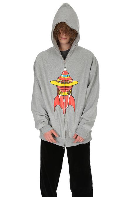 BBC Zip Hoody Sweater - Grey