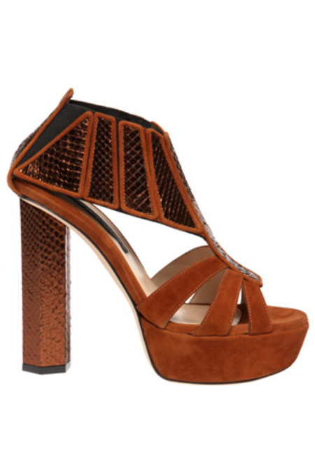 Chrissie Morris Boudicca Metal Shoes - Python Suede