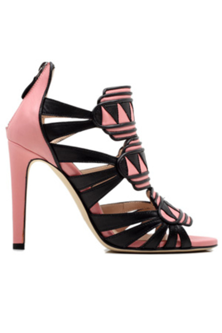 Chrissie Morris Alana Aztec Heel Shoes - Black/Pink