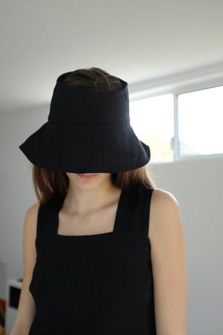 Beklina Topless Sunhat Solid Black & White
