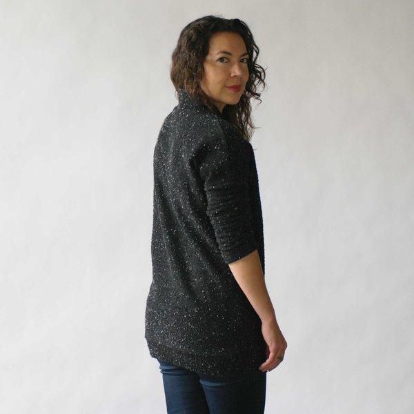 Make It Good Pebble Knit Tunic in Black