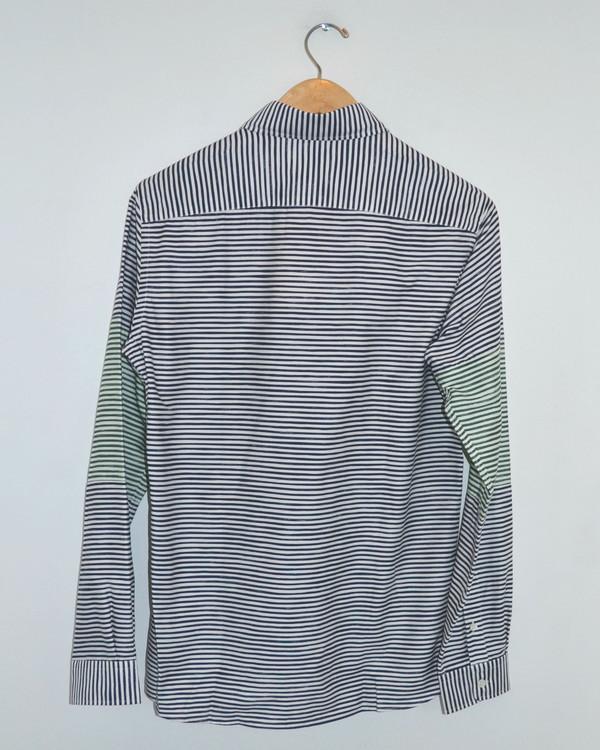 Men's TIMO WEILAND - Jay Stripe Buttondown Grey