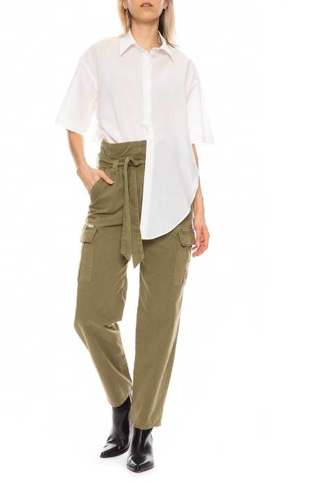 Mother Denim Greaser Pleated Cargo Pant - OLIVE DRAB