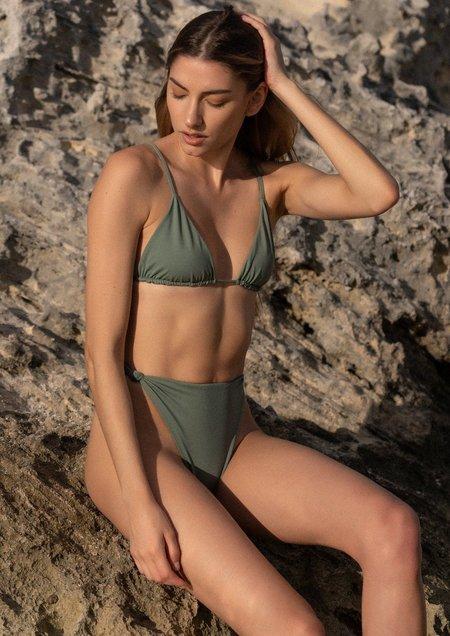 Raffia Bahia Bikini Set - Olive