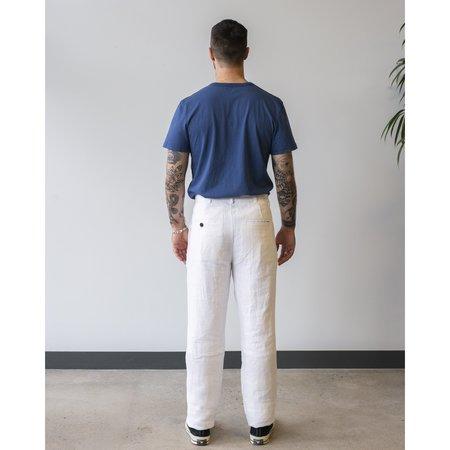 Freemans Sporting Club Linen Chino - White
