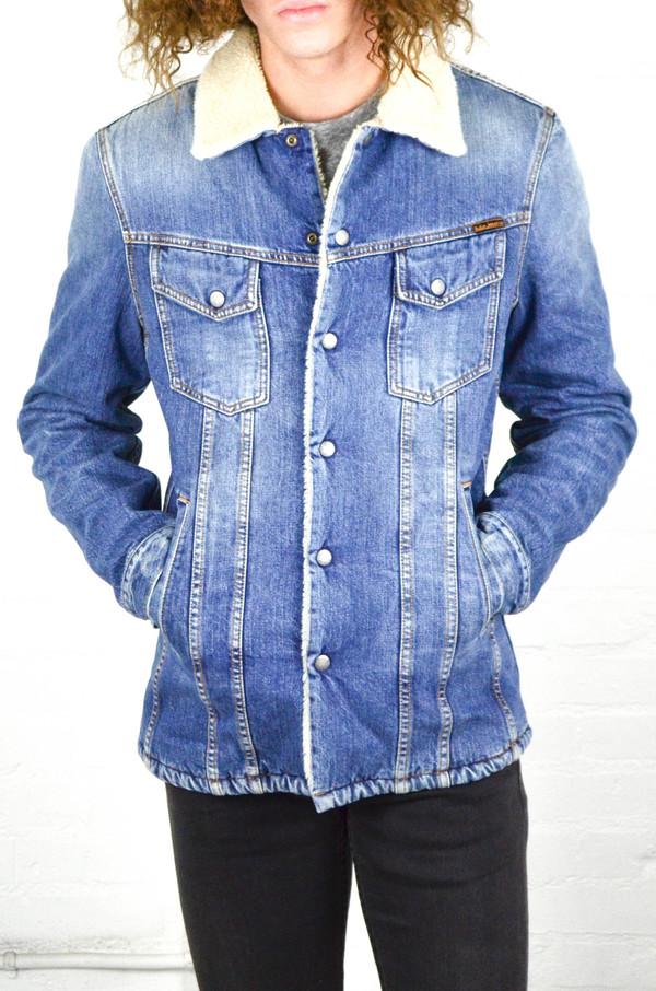 Nudie Lenny Tangerine Blue Denim Jacket