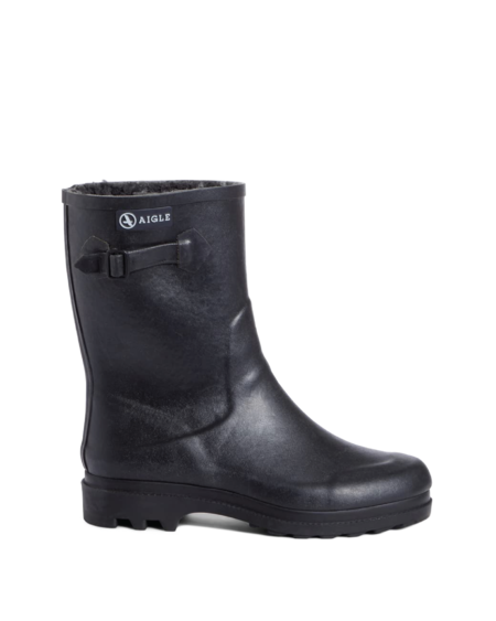 Aigle Icare Fur Lined Boot - Black