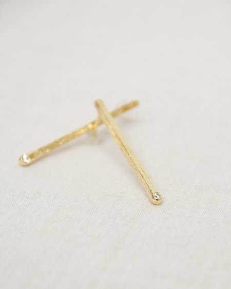 Nina Berenato Matchstick Earrings - gold