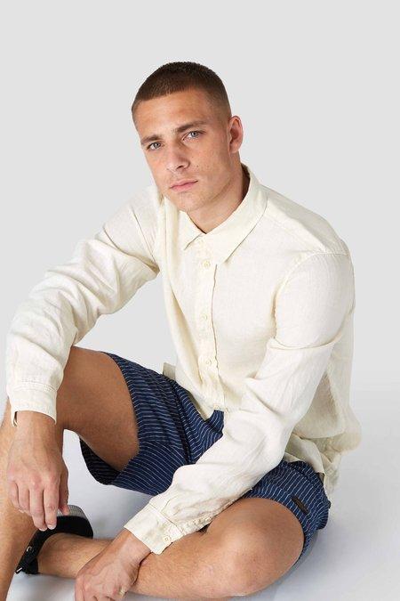 kings of indigo Enda linen shirt - off white
