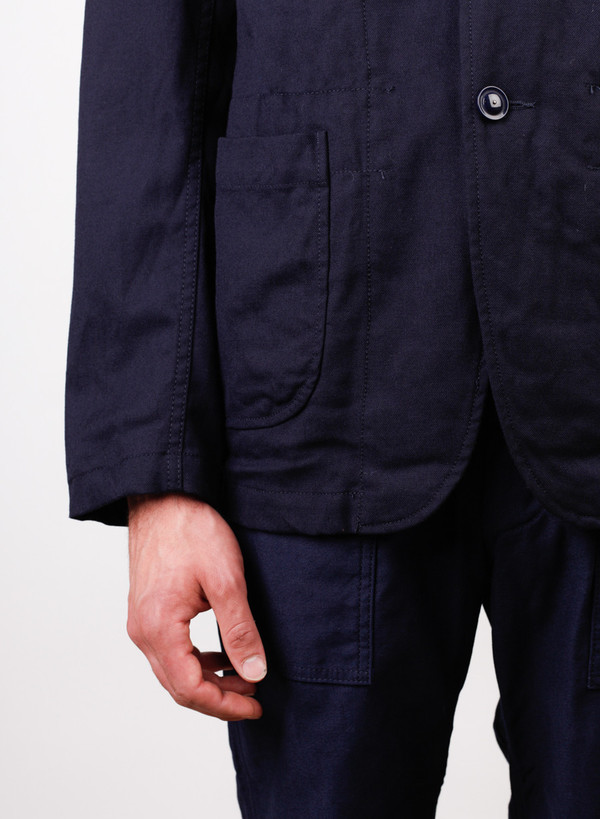 Men's Engineered Garments Bedford Jacket Dk. Navy Uniform Serge