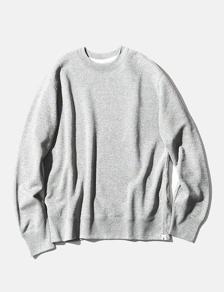 mocT Loopwheel Neon Script Sweatshirt - Grey/Neon Green