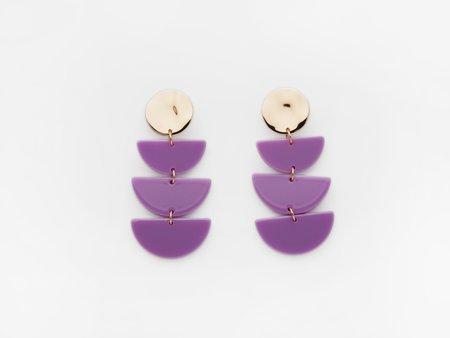 Valet Studio Clemence Earrings - Purple
