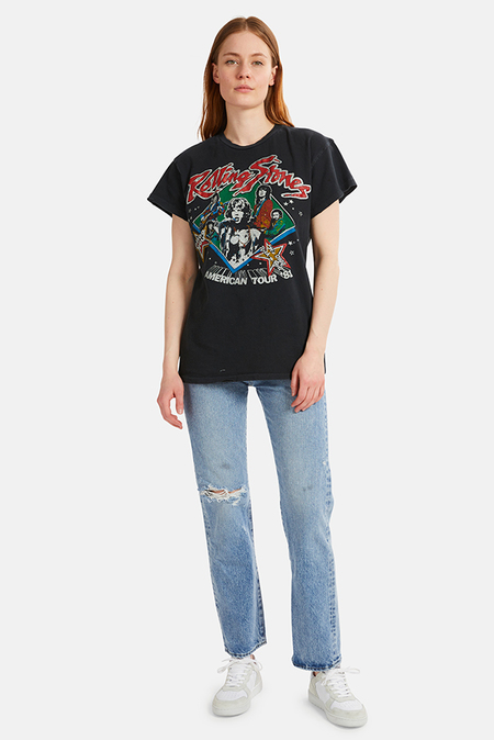 MadeWorn Rock Rolling Stones Sold Out '81 T-Shirt - Coal