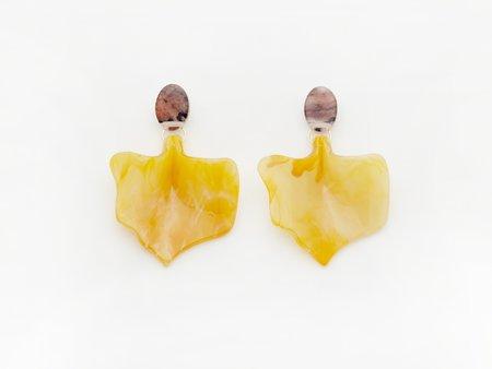 Valet Studio Flower Bud Earrings - Mustard