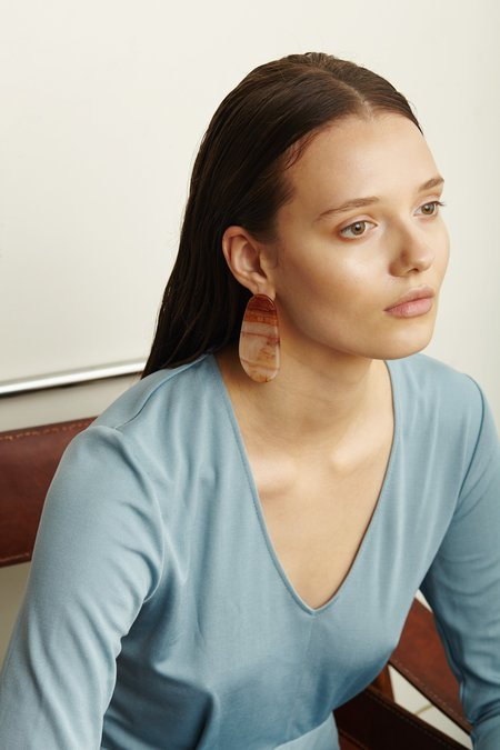 Valet Studio Maple Earrings - Marble