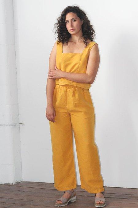 Patricia Linen Pant - Golden