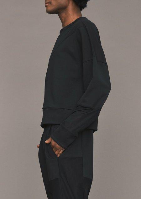 Berenik PATCHWORK COTTON JERSEY SWEATER - black transparent/opaque