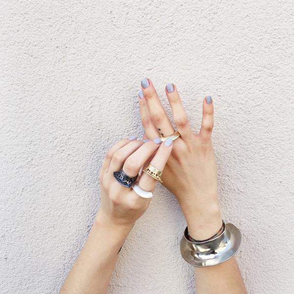 Ariana Boussard-Reifel Ziara Ring in Black Silver