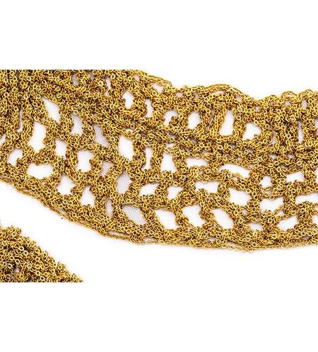 Arielle De Pinto Cowl Necklace in Gold