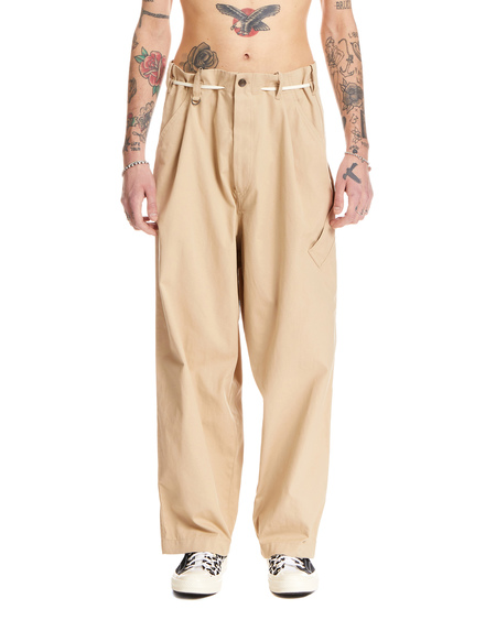 Y-3 Cotton Trousers - Brown