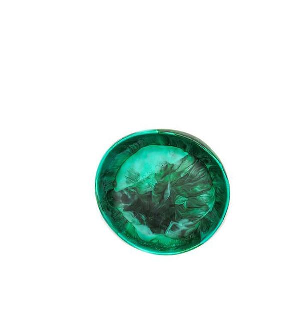 Dinosaur Designs Small Earth Bowl in Emerald Swirl